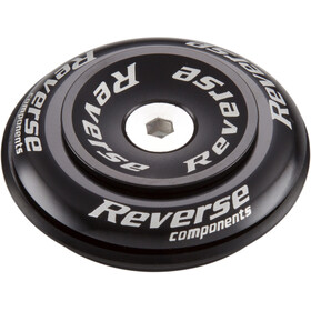 "Reverse Twister Top Cap 1 1/8"" Semi, black"